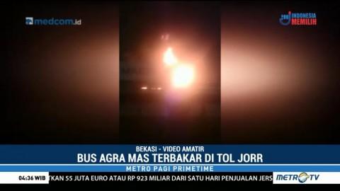 Bus Antar Kota Terbakar di Tol JORR