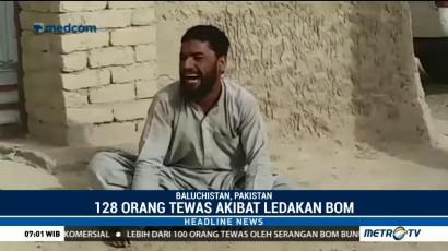 Korban Tewas Akibat Bom di Pakistan Bertambah Jadi 128 Orang