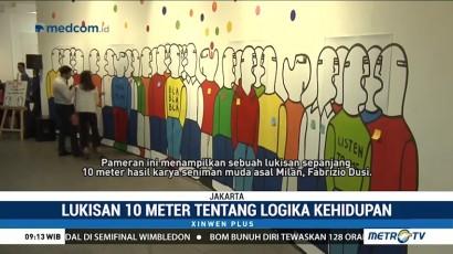 Pameran Seni Bla Bla Bla Tampilkan Lukisan Sepanjang 10 Meter
