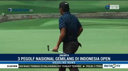 Tiga Pegolf Nasional Tampil Gemilang di Indonesia Open