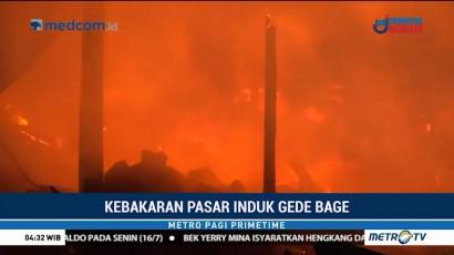 Kebakaran Besar Landa Pasar Induk Gedebage