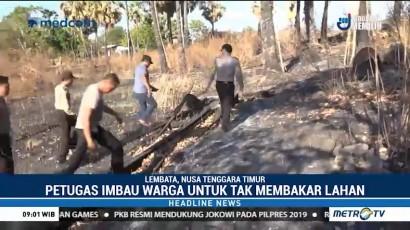 Ratusan Personel Polres Lembata Pantau Titik Rawan Kebakaran Hutan