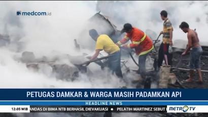 Gudang Produksi Kapal di Riau Hangus Terbakar