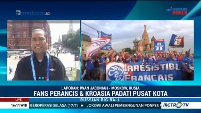 Suporter Prancis dan Kroasia Padati Moskow