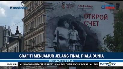 Grafiti Menjamur di Moskow Jelang Final Piala Dunia