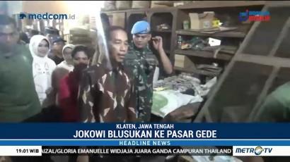 Jokowi Blusukan ke Pasar Gede Klaten