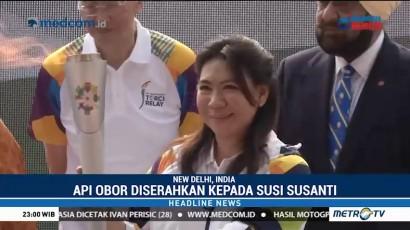 Susy Susanti Awali Kirab Obor Asian Games dari India