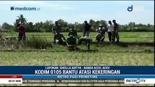 Kodim 0105 Aceh Barat Bantu Petani Atasi Kekeringan