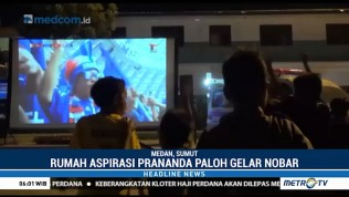 Ratusan Warga Medan Nobar Final Piala Dunia di Rumah Aspirasi