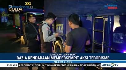 Antisipasi Aksi Terorisme, Polres Sumedang Gelar Razia Kendaraan