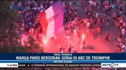 Warga Paris Sambut Kemenangan Timnasnya
