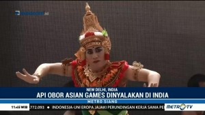 Api Obor Asian Games Dinyalakan dengan Diiringi Tarian Bali