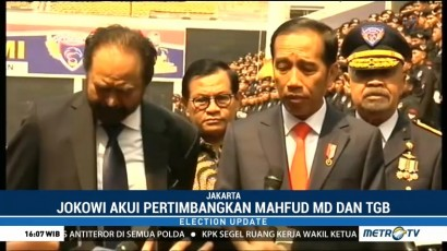 Jokowi Akui Pertimbangkan Mahfud dan TGB