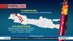 Ini Rute Kirab Obor Asian Games 2018