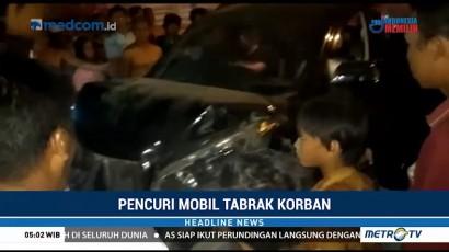Seorang Warga Tewas Ditabrak Pencuri Mobil di Palembang