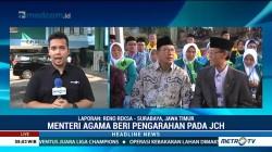 Menag Lepas Keberangkatan Kloter Pertama Embarkasi Surabaya