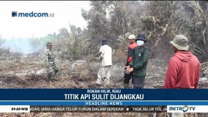 Lahan Gambut di Riau Hangus Terbakar