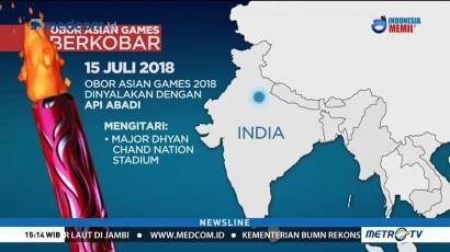 Perjalanan Obor Asian Games dari India Menuju GBK