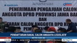 Pendaftaran Bacaleg di Aceh, Sumut dan Jabar