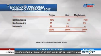 Papua Sumbang 99 Persen Penghasilan Emas Freeport McMoran