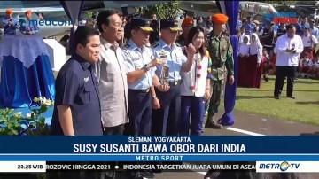 Api Obor Asian Games Tiba di Yogyakarta