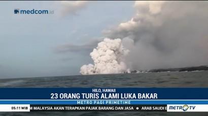 Kapal Turis Tertimpa Muntahan Lava Gunung Kilauea