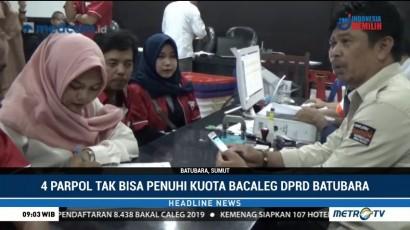 4 Partai Politik  Tidak Bisa Penuhi Kuota Bacaleg DPRD Batubara