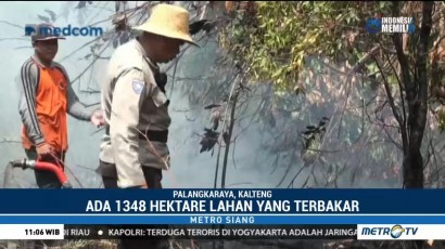 1.348 Hektare Lahan Gambut di Palangka Raya Terbakar