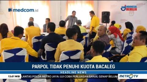 Sejumlah Parpol  Tidak Penuhi Kuota Bacaleg di Riau