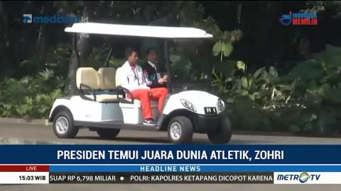 Jokowi Ajak Zohri Keliling Istana Bogor