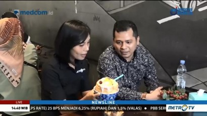 Icip-icip Segarnya Es Putar Khas Makassar
