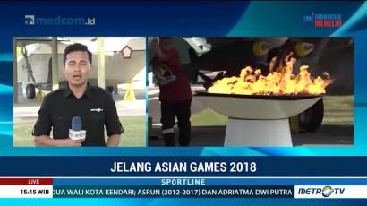 TNI AU Serahkan Obor Asian Games ke Inasgoc