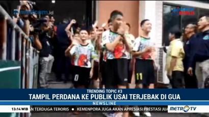 12 Remaja Thailand Tampil Perdana Usai Diselamatkan dari Gua