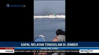 Kapal Tenggelam di Jember, 6 Orang Tewas