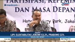 Survei LIPI: Elektabilitas Jokowi Jauh Lampaui Prabowo