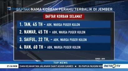 Daftar Nama Korban Kapal Tenggelam di Jember