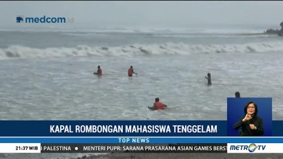 Kapal Rombongan Mahasiswa IPB Tenggelam, Dua Tewas