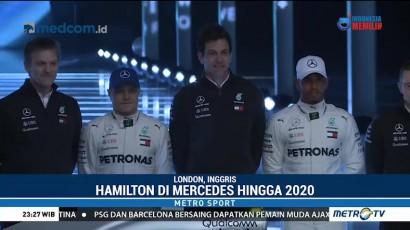 Lewis Hamilton Perpanjang Kontrak dengan Mercedes Hingga 2020