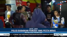 Polresta Depok Bubarkan Pesta Miras di Cilodong