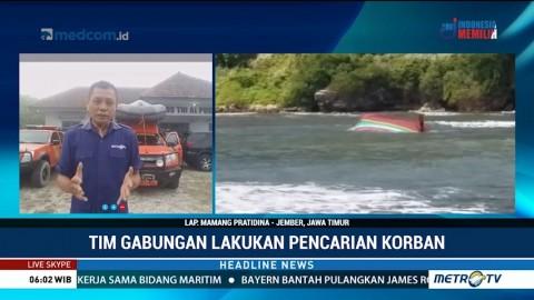 Tim Gabungan Berupaya Angkat Kapal yang Terbalik di Jember