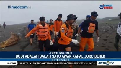 Satu Jenazah Korban Kapal Tenggelam di Jember Ditemukan