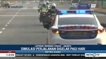 Polda Metro Gelar Simulasi Pengawalan Rute Kendaraan Atlet Asian Games