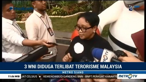 Menlu Verifikasi 3 WNI Terduga Teroris di Malaysia