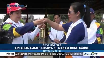 Api Obor Asian Games 2018 Singgah di Makam Bung Karno