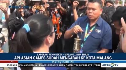 Api Obor Asian Games Diarak ke Alun-alun Malang