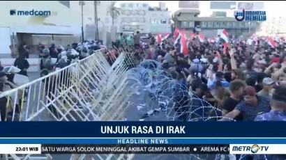 Ribuan Warga Irak Unjuk Rasa Tuntut Perbaikan Layanan Publik