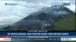 Kebakaran 50 Hektar Lahan di Aceh Tengah Diduga Akibat Puntung Rokok
