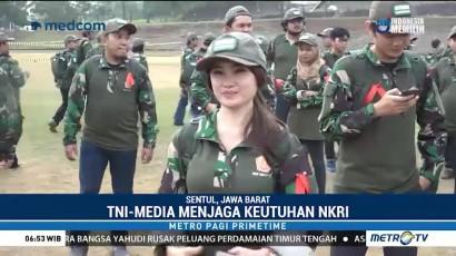 Ratusan Wartawan Ikut Outbound Bersama TNI