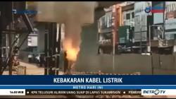 Galian Kabel PLN di Kebayoran Baru Terbakar