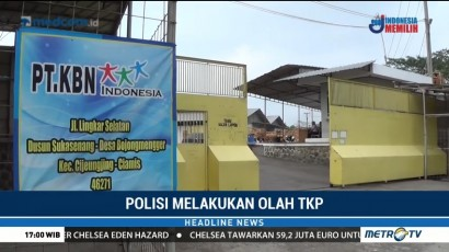 Polres Ciamis Gelar Olah TKP Ledakan di Pabrik Kayu PT KBN